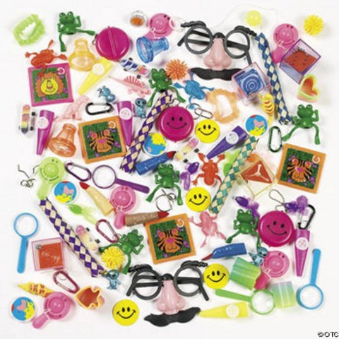 100 Piece Assorted Toys - Carnival Prizes / Party Favors Unknown - Chickadee Solutions