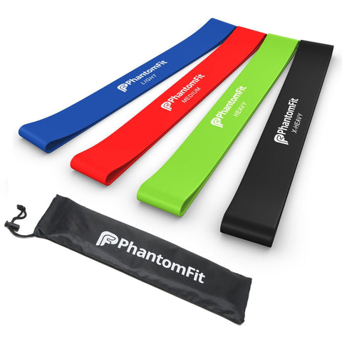 Phantom Fit Resistance Loop Bands - Set of 4 - Best Fitness Exercise Bands fo... - Chickadee Solutions - 1