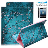 iPad Air 2 Case Itrendz [Cute Smart Case] Cherry Blossom PU Leather Flip Case... - Chickadee Solutions - 1
