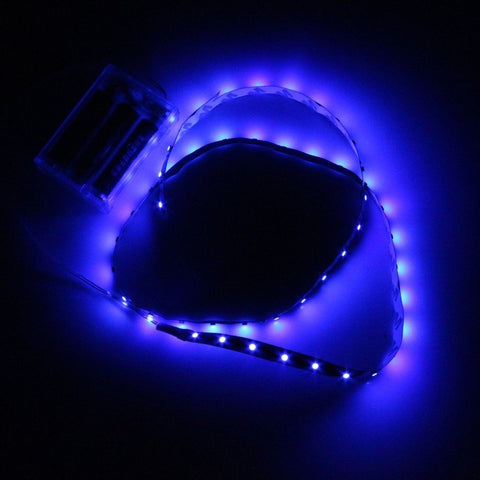 DC5V Led Strips Blue 60Leds Led Strip 3528 Non-Waterproof Battery Powered Pac... - Chickadee Solutions - 1