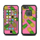 Skin for Lifeproof 6 Case (skins/decals only) - Pineapple Design on pink. Haw... - Chickadee Solutions