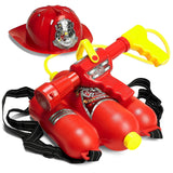 Prextex Fireman Backpack Water Gun Blaster with Fire Hat- Water Gun Beach Toy... - Chickadee Solutions