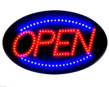 "Jumbo 24"" x 13"" LED Neon Sign with Motion - ""OPEN"" (Red/Blue) B30 Red/Blue - Chickadee Solutions"