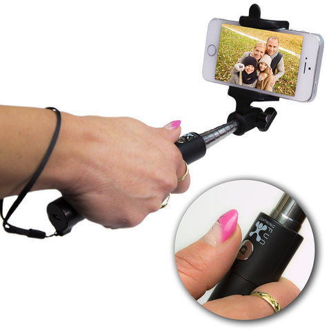 Selfie stick Foldable Extendable Bluetooth Selfie Stick with Built-in Remote ... - Chickadee Solutions - 1