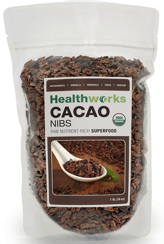 Healthworks USDA Certified Organic 100% Raw Cacao Nibs 16 Ounce HealthWorks - Chickadee Solutions - 1