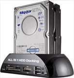 "SISUN 2.5""/3.5"" IDE SATA HDD Docking Station +Card Reader Hub (Black) - Chickadee Solutions - 1"