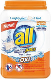 All Mighty Pacs Laundry Detergent Free Clear OXI Tub 56 Count - Chickadee Solutions - 1