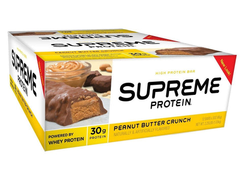 Supreme Protein Bar Peanut Butter Crunch 30g Protein 3 Ounce Bars (Pack of 12) - Chickadee Solutions - 1