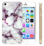 Iphone 5 Case Iphone 5s Case IiEXCEL Marble Pattern Purple Soft Flexible TPU ... - Chickadee Solutions - 1