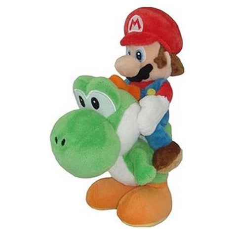 Little Buddy Super Mario Plush - Mario and Yoshi Plush 8-Inch - Chickadee Solutions