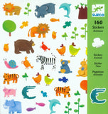 Djeco Animal Stickers (160 pc) 160 Pieces - Chickadee Solutions