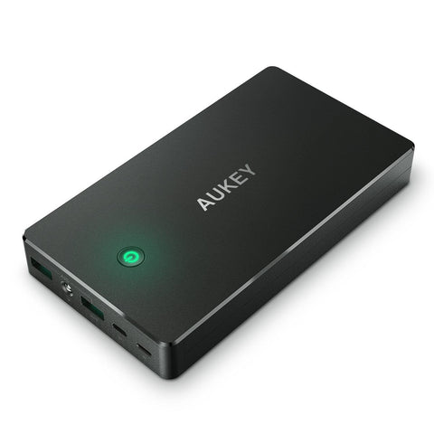 AUKEY 20000mAh Portable Charger with Lightning Input and 4.8A Dual USB Output... - Chickadee Solutions - 1