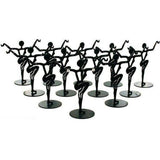 "12 Black Metal Earring Dancer Jewelry Showcase Display Stands 3.25"" - Chickadee Solutions"