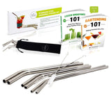 Chefast Stainless Steel Drinking Straws Set of 3x2 Reusable Bent Straws - Goo... - Chickadee Solutions - 1