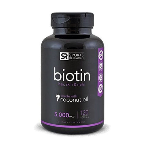 Biotin (High Potency) 5000mcg Per Veggie Softgel; Enhanced with Coconut Oil f... - Chickadee Solutions - 1