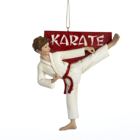 "4""RESIN KARATE BOY ORN - Chickadee Solutions"