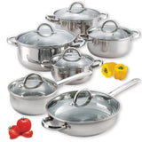 Cook N Home 12-Piece Stainless Steel Set - Chickadee Solutions - 1