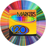 Color Markers Set - (SET OF 120 UNIQUE & VIBRANT COLORS) - Completely Washabl... - Chickadee Solutions - 1