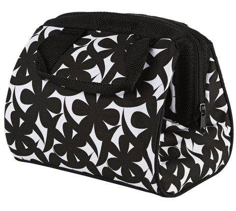 Fit & Fresh Charlotte Insulated Lunch Bag with Ice Pack Black and White - Chickadee Solutions - 1