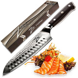 ZELITE INFINITY Santoku Knife 7 Inch. Best Quality Japanese VG10 Super Steel ... - Chickadee Solutions - 1