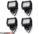 Turbo SII 4Pcs 18W Led Work Light 4 Inches Spot Beam Off Raod Cree For 4wd Bo... - Chickadee Solutions - 1