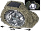 "Large 7"" wide Garden Solar Rock Lights Outdoor - Chickadee Solutions - 1"