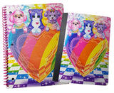 Lisa Frank Puppy & Kitten Love Notebook Composition Bundle: 2 Items - (1) Gli... - Chickadee Solutions - 1