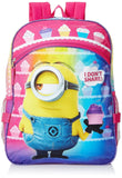Despicable Me Girls' Purple 16 Inch Backpack with Detachable Lunch Bag Multi - Chickadee Solutions - 1