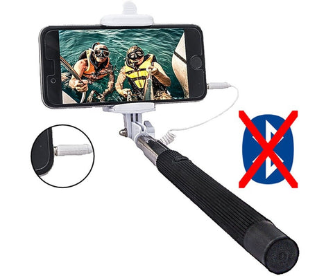 selfie stickworry free goodieextendable cable controlno battery no bluetooth chickadee. Black Bedroom Furniture Sets. Home Design Ideas