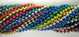 33 Inch 07mm Round Metallic 6 Color Mardi Gras Beads - 6 Dozen (72 Necklaces) - Chickadee Solutions - 1