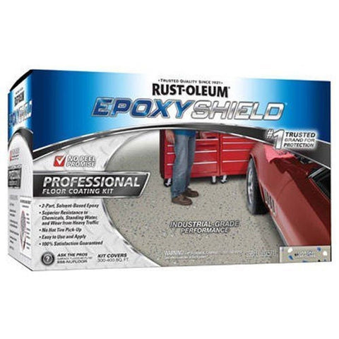 Rust-Oleum 203373 Professional Floor Coating Kit Silver Gray - 2 Pack - Chickadee Solutions