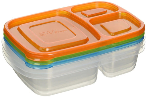 Perfect Life Ideas Bento Lunch Boxes Nesting Multi-compartment 3 Pieces Set - Chickadee Solutions - 1