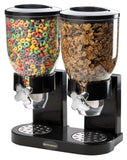 Double Chamber Airtight Cereal And Dry Food Dispenser With Built In Spill Tra... - Chickadee Solutions - 1