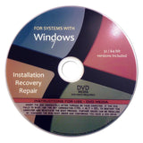 Windows 7 Home Premium 32/64-bit Reinstall Reinstallation Re install Recovery... - Chickadee Solutions - 1