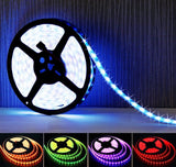 LightPlus 16.4 ft (5m) RGB LED Strip - Flexible 300 Leds Color Changing RGB S... - Chickadee Solutions - 1