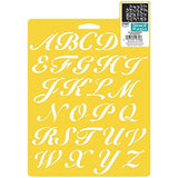 Plaid Delta 970660710 Script Alphabet Stencil 7 by 10-Inch - Chickadee Solutions