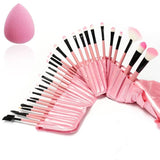 Luckyfine Pink Professional 32pcs Makeup Brushes Set Soft Cosmetic Foundation... - Chickadee Solutions - 1