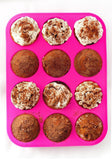 Silicone Muffin Pan - 12 Cups Pink Mold & Baking Tray- Reusable Non-Stick Bak... - Chickadee Solutions - 1