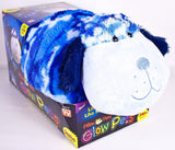 "Pillow Pets 18"" Jumbo Glow Pets Blue Camo Dog - Chickadee Solutions"