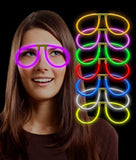 Fun Central G709 Glow Stick Eye Glasses - Assorted Colors 6ct 6 ct - Chickadee Solutions - 1