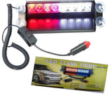 ZHOL 8 LED Visor Dashboard Emergency Strobe Lights Red/white - Chickadee Solutions - 1