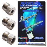 Master Airbrush Brand Airbrush Fitting Conversion Adapters for Paasche Badger... - Chickadee Solutions