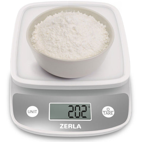 Digital Kitchen Scale by Zerla - Versatile Food Scale - Weigh Snacks Liquids ... - Chickadee Solutions - 1