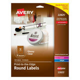 Avery Print - To - The Edge Round Labels Glossy Clear 2-Inch Diameter 120 Lab... - Chickadee Solutions - 1
