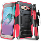 Galaxy J7 (2015) Case With TJS Tempered Glass Screen Protector Included Dual ... - Chickadee Solutions - 1
