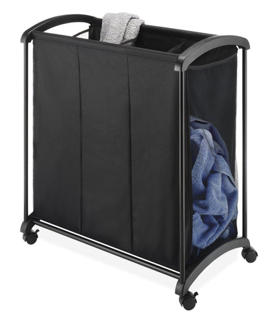 Whitmor 6396-4555 3-Section Laundry Sorter Black Whitmor - Chickadee Solutions