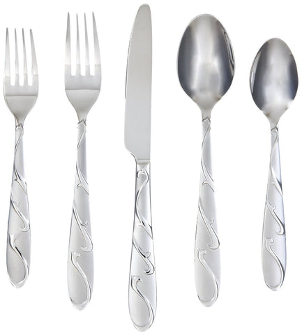 Farberware Chipotle Sand 20-Piece Flatware Set 18/0 Stainless Steel - Chickadee Solutions