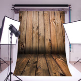 LB 5X7ft Wooden Wall & Floor Poly Fabric Photo Backdrops Customized Studio Ba... - Chickadee Solutions - 1