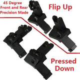AR15 AR 15 Front and Rear flip up 45 Degree Rapid Transition BUIS Backup Iron... - Chickadee Solutions - 1