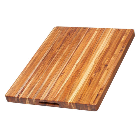 Teak Cutting Board - Rectangle Carving Board With Hand Grip (24 x 18 x 1.5 in... - Chickadee Solutions - 1